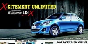 Maruti Swift Dzire LDiX Limited edition launched