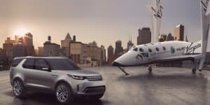 Range Rover in a tie-up with Virgin Galactic for space, the final frontier!