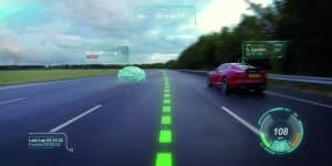 Jaguar's 'Virtual Windscreen' concept that will aid road and track driving