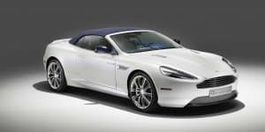 Aston Martin unveils DB9 Volante Morning Frost
