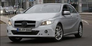Next Generation Mercedes A-Class spied with minor makeover