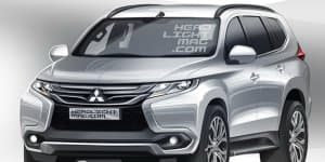 Rendering - India-bound 2016 New Mitsubishi Pajero Sport