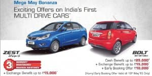 Car Offers & Discounts in May 2015 - Tata Zest and Bolt