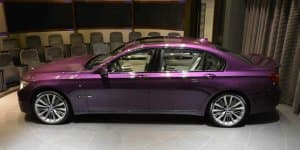 Image Gallery - Customized BMW 760Li with Twilight Purple paint
