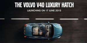 Volvo V40 Hatchback India Launch Tomorrow on June 17, 2015