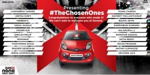 Tata Announce Winners of 'The Chosen Ones' Nano Genx Campaign