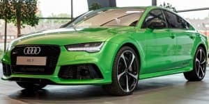 Audi RS7 receives Apple Green Metallic paint