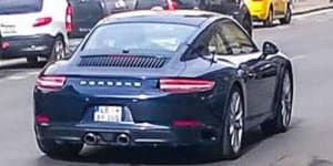 2016 Porsche 911 facelift spied without camo
