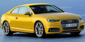 2016 Audi A5 Coupe speculatively rendered