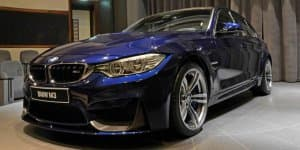 BMW M3 gets Tanzanite Blue paint and carbon rear wing