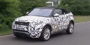 Video - Range Rover Evoque Cabrio spied during final testing on Nurburgring