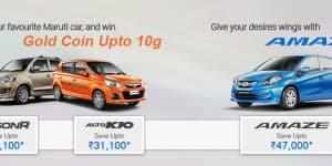 Car Offers & Discounts in September 2015 – Maruti and Honda cars