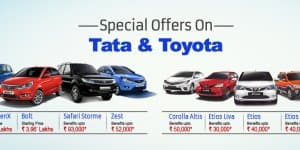 Car Offers & Discounts in September 2015 – Tata and Toyota cars