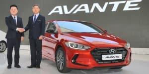 Updated Hyundai Elantra sedan revealed in Korea