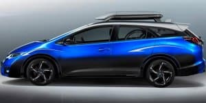 Honda prepares Civic Tourer Active Life concept for cyclists