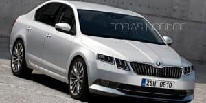 Skoda Octavia facelift to have double headlights design?