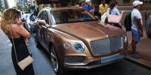 Bentley Bentayga spotted near five-star hotel in New York