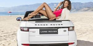 Range Rover Evoque Convertible Debuts in US with Naomie Haris