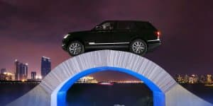 Video - Watch Range Rover drive over a Paper Bridge