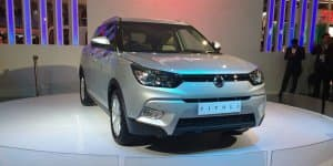 Mahindra SsangYong Tivoli Showcased at 2016 Auto Expo