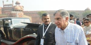6th International Vintage car rally & Concours show organised at Red Fort