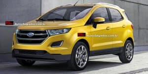 2017 Ford Ecosport facelift interior spied, exteriors rendered