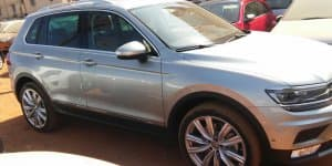 2016 VW Tiguan seen at Indian dealership