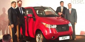 Mahindra e2o ElectriCity Car launched in UK