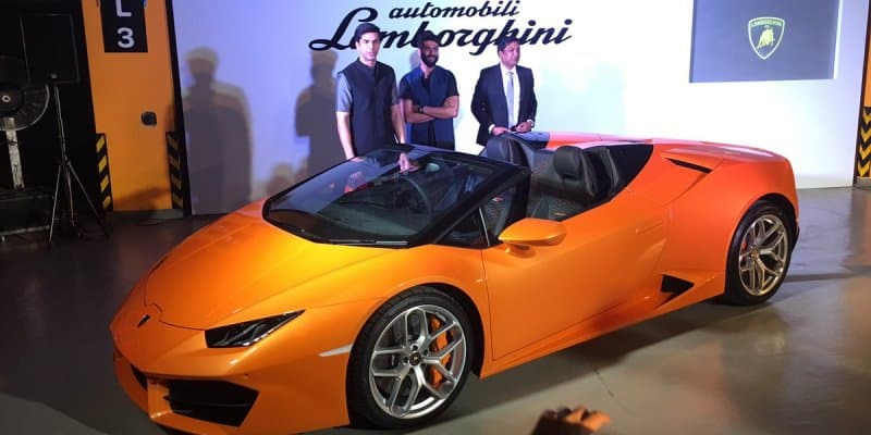 Lamborghini Huracan Spyder RWD Launched at Rs. 3.45 Crores