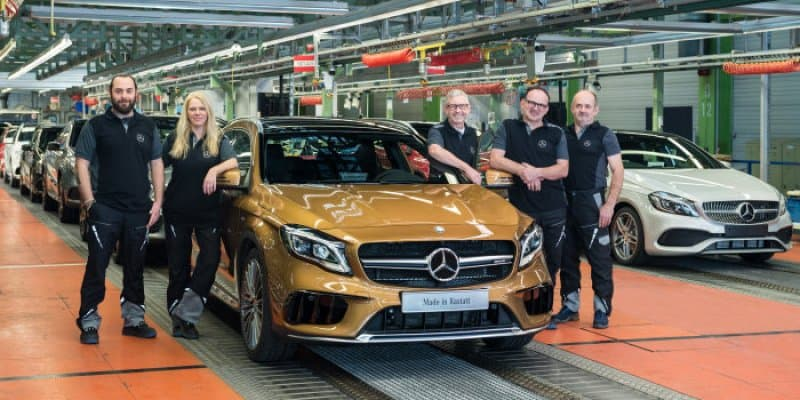 Mercedes GLA Facelift Production Starts in Germany