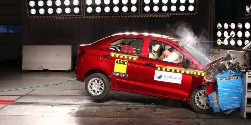 Ford Aspire Gets 3-Star Safety Rating from Global NCAP
