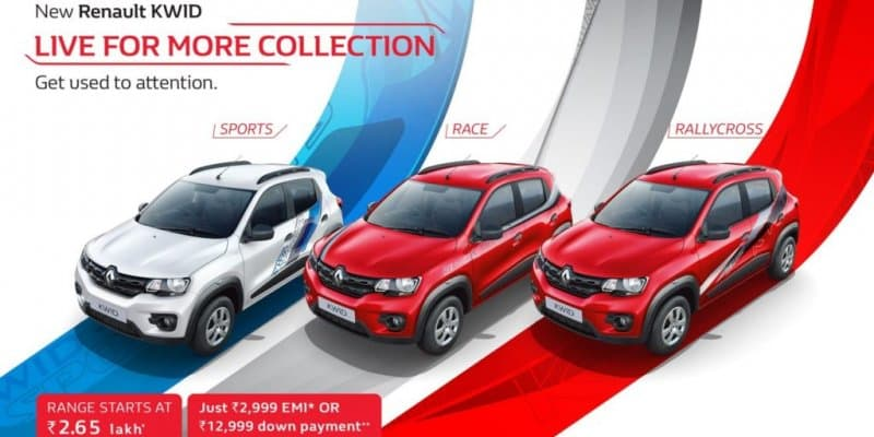 Renault Kwid Live for More Edition Bags 1000 Bookings