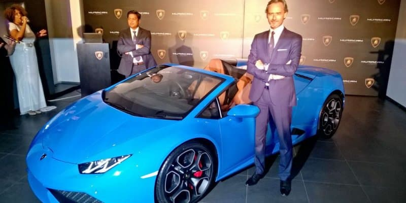 Lamborghini Huracan Spyder Launched at Rs. 3.89 Crores