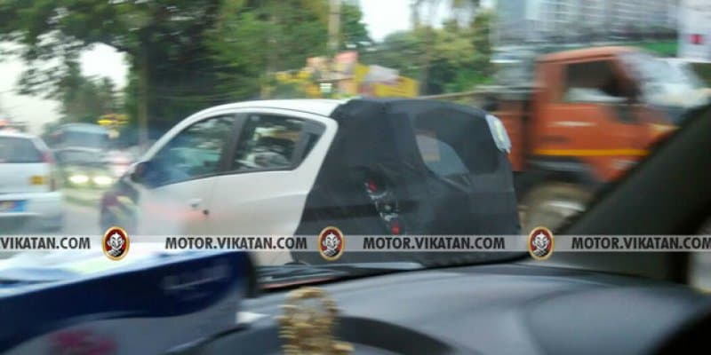 Chevrolet Beat Activ Spied For the First Time