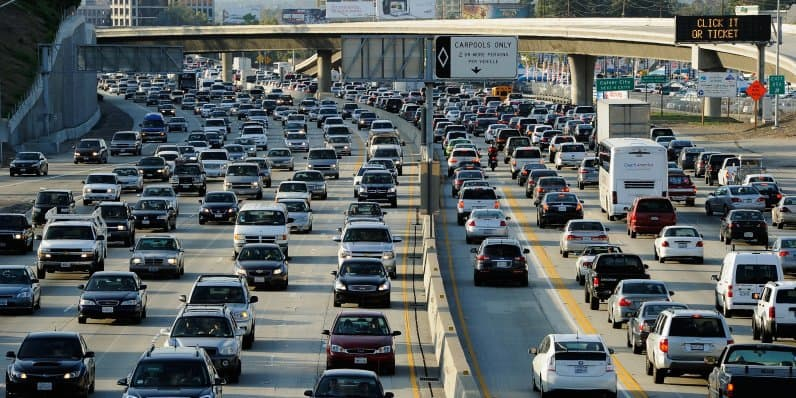 American people spend more time in traffic than anyone else in the world