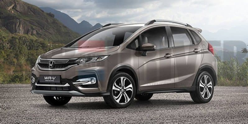 Rendered - India bound Honda Jazz based WR-V soft-crossover