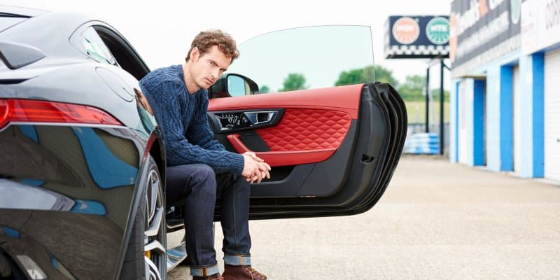 Video - Jaguar F-Type SVR vs Andy Murray