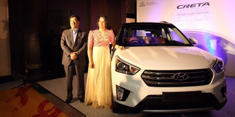 1st Hyundai Creta Anniversary Edition Presented to Saina Nehwal