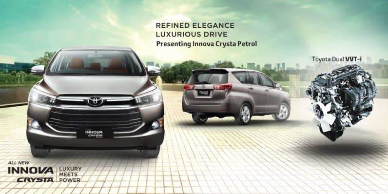 Toyota Innova Crysta Petrol Launched at Rs. 13.72 Lakhs