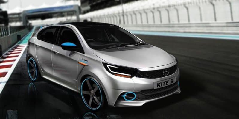 Rendering - Tata Kite 5 imagined as a hot hatch