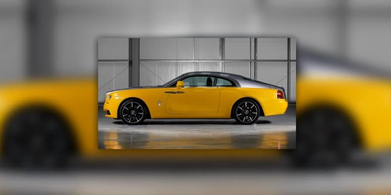 Bespoke Rolls-Royce Wraith with Golden Yellow shade unveiled