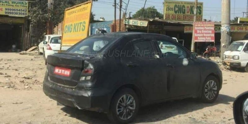 2017 Maruti Swift DZire Spied Testing; Clear Images