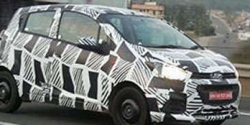 2017 Chevrolet Beat spied testing in India in full camouflage