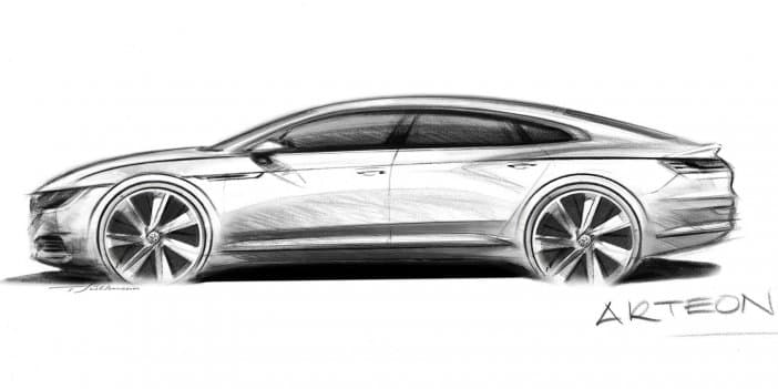 Volkswagen previews Arteon Fastback ahead of 2017 Geneva Motor Show