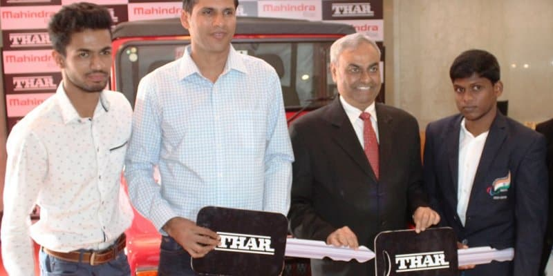 Mahindra Thar 4X4 Gifted to India's 2016 Paralympics Gold Medalists