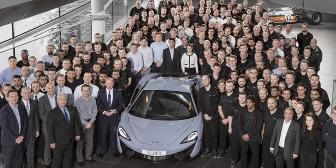 McLaren rolls out 10,000th car in just 5 years of going to production