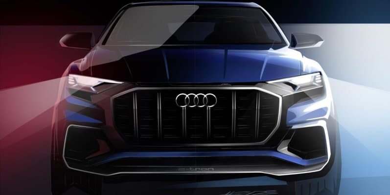 Audi Q8 Concept with Touch Door teased before unveiling on 9th January, 2017