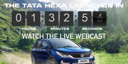 Live Webcast - Tata Hexa to launch today