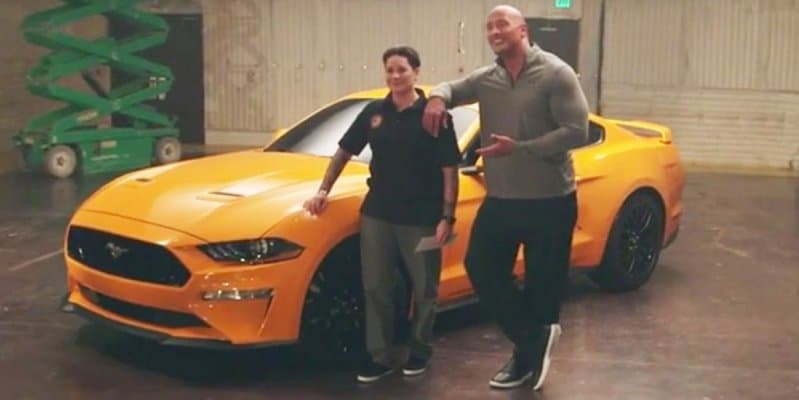 Video - 2018 Ford Mustang gifted to Veteran by Dwayne 'The Rock' Johnson